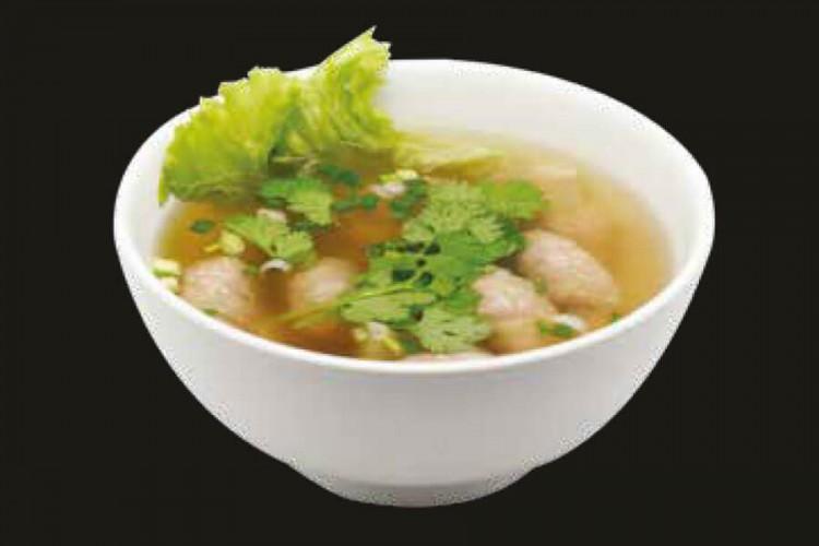 Soupe de nouilles aux raviolis de crevettes