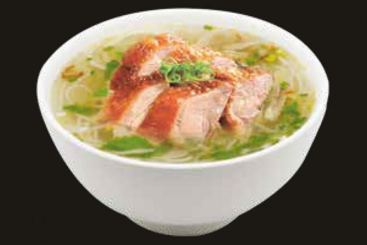 Soupe de nouilles au canard laque