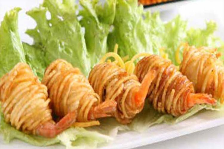 Beignet rouleaux aux crevettes et...