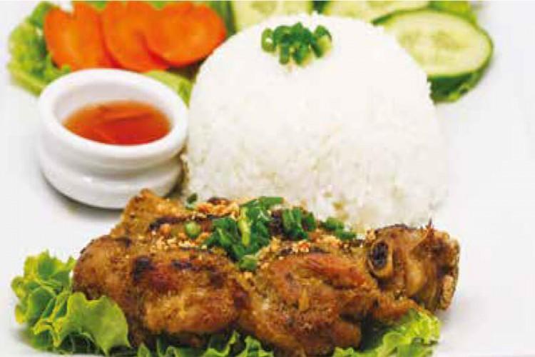 Riz au poulet grillé à la citronnelle